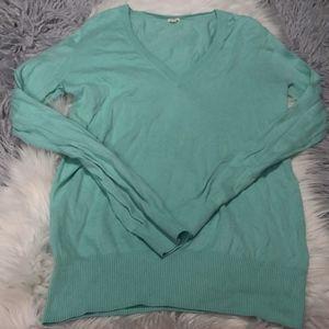 J. Crew Factory Mint V-neck Sweater